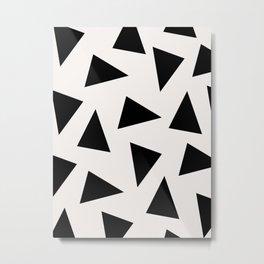 black triangle pattern II Metal Print
