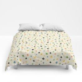 teeny colorful flowers Comforters