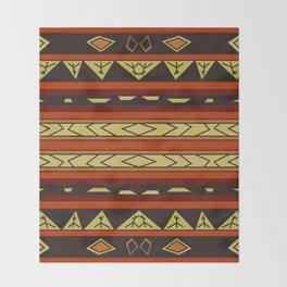 ethnic background folk africans endless pattern Throw Blanket