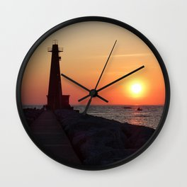 Muskegon Lighthouse Wall Clock