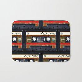 Retro classic vintage gold mix cassette tape Bath Mat
