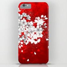 Red skies and white sakuras iPhone 6s Plus Slim Case