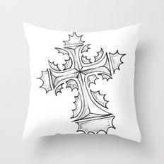 HollyCross Sketch Throw Pillow