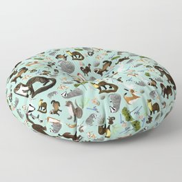 Mustelids from Spain pattern Floor Pillow