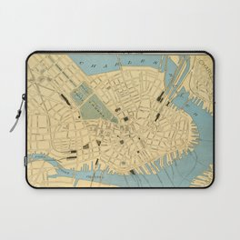 Vintage Map of Boston MA (1890) Laptop Sleeve