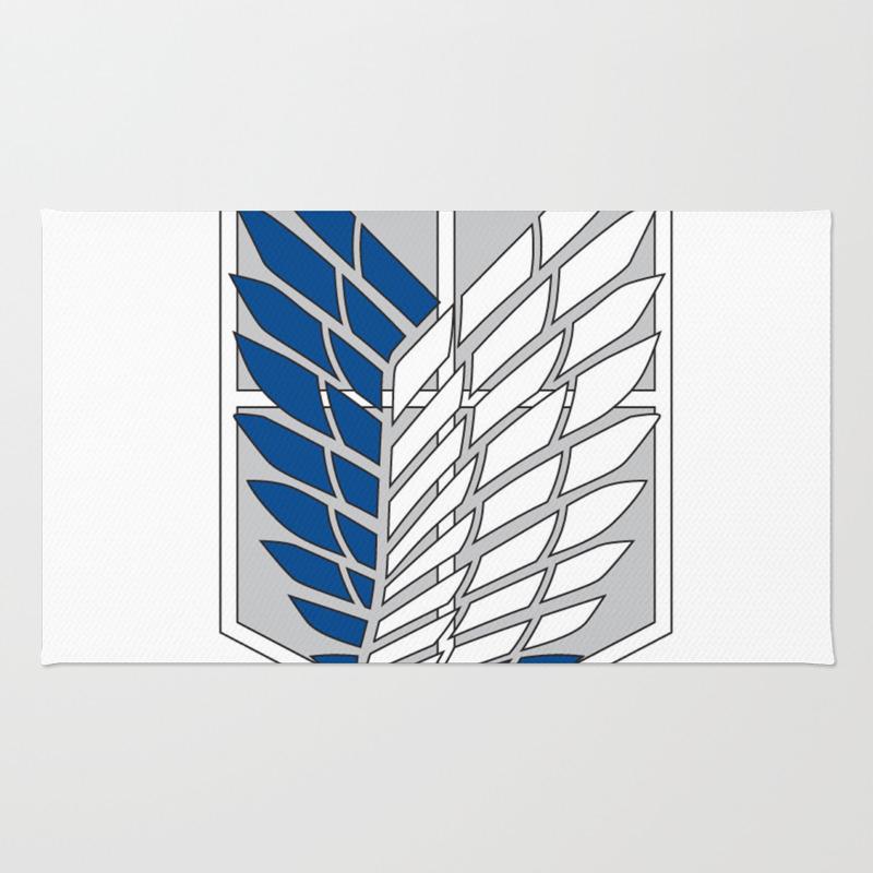 Attack On Titans Survey Corps Logo Rug by Akihabara RUG8932159