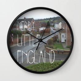 Merry Little England Wall Clock