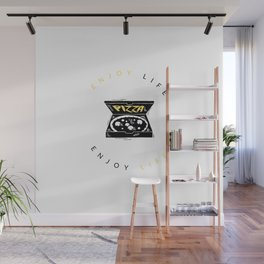 enjoy life with pizza Wall Mural