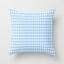 Quadri blue Throw Pillow