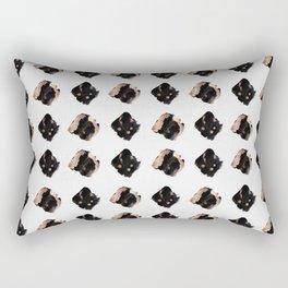 Black and gold diamond pattern Rectangular Pillow