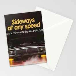 """Grand National """"Sideways at any Speed"""" original advertisement image Stationery Cards"""