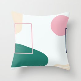 Live with love - on white backgroung Throw Pillow