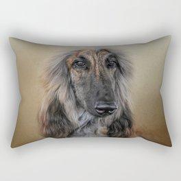 The Elegant Afghan Hound Rectangular Pillow