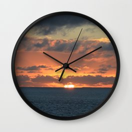 Heavenly Sunset Wall Clock