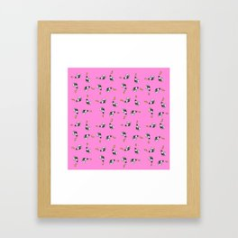 Cows and Pizza Framed Art Print
