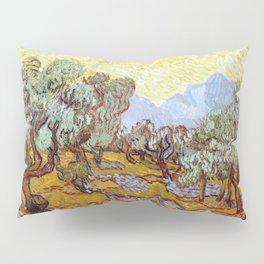1889-Vincent van Gogh-Olive Trees with yellow sky and sun-73,66x92,71 Pillow Sham
