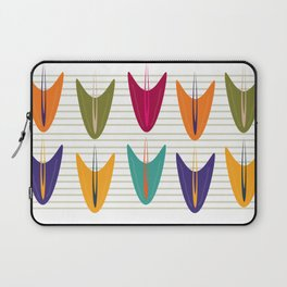 Abstract Tulip Floral Pattern Laptop Sleeve