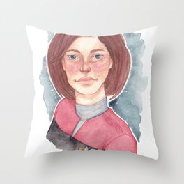 StarShip Captain Throw Pillow