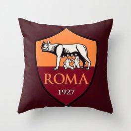 AS Roma Throw Pillow