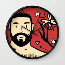 Beard Boy: Feliz Navidad Wall Clock
