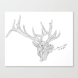 Elk Wisdom Canvas Print