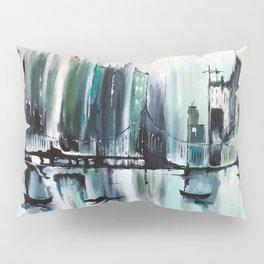 Blue Cityscape Pillow Sham