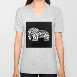 black elephant ecopop Unisex V-Neck