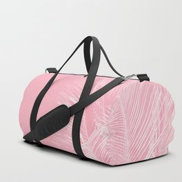 Millennial Pink illumination of Heart White Tropical Palm Hawaii Duffle Bag