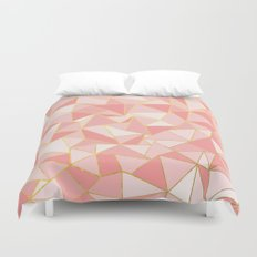 Ab Out Blush Gold Duvet Cover