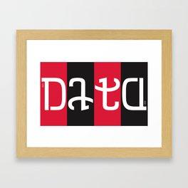 """""""data"""" Framed Art Print"""