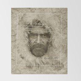 Ernest Shackleton Fake Robert E.Peary (Spanish Version) Throw Blanket