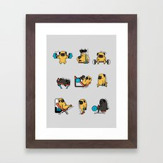 Leg Day with The Pug Framed Art Print