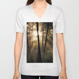 Coastal Forest Light Unisex V-Neck