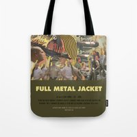kubrick Tote Bags featuring Full Metal Jacket - Stanley Kubrick by Smart Store