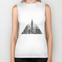 city Biker Tanks featuring New York City by Studio Laura Campanella