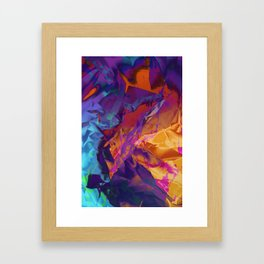 Dragon's Back. Dynamic, Blue, Purple and Orange Abstract. Framed Art Print