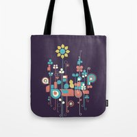 sunflower Tote Bags featuring Sunflower by Jay Fleck