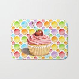 Cupcake Polka Dots Bath Mat