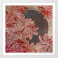 leah flores Art Prints featuring Flores by MACACOSS