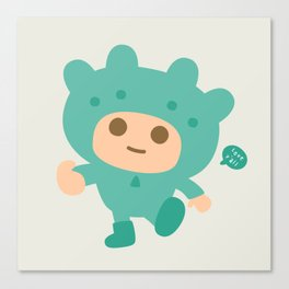 Twin-Bear Hoodie Canvas Print
