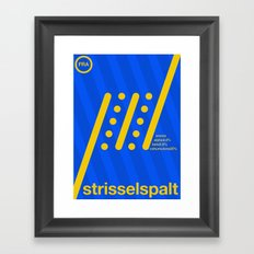 strisselspalt single hop Framed Art Print
