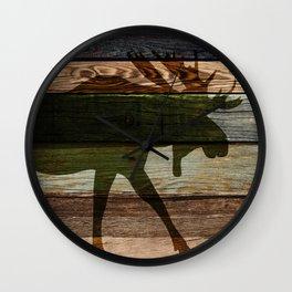 The Moose Shadow Wall Clock