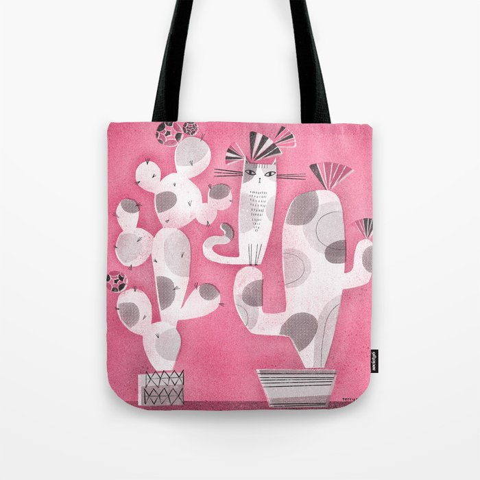 CAT & CACTUS Tote Bag