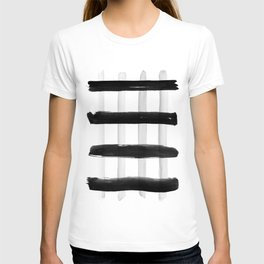 Black and White Brush Strokes T-shirt