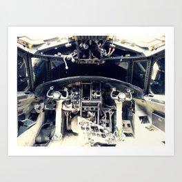 Boneyard E-2B Cockpit Art Print