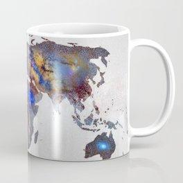 """Star map. Never stop exploring...II"". World map. Coffee Mug"