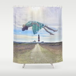 The unbearable being of lightness Shower Curtain