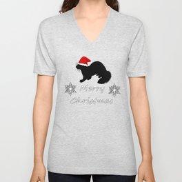 "Ferret ""Merry Christmas"" Unisex V-Neck"