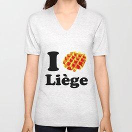 I Gaufre Liege - I waffle Liege Unisex V-Neck
