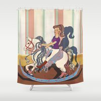 barbie Shower Curtains featuring Barbie by Jane Lim illustration